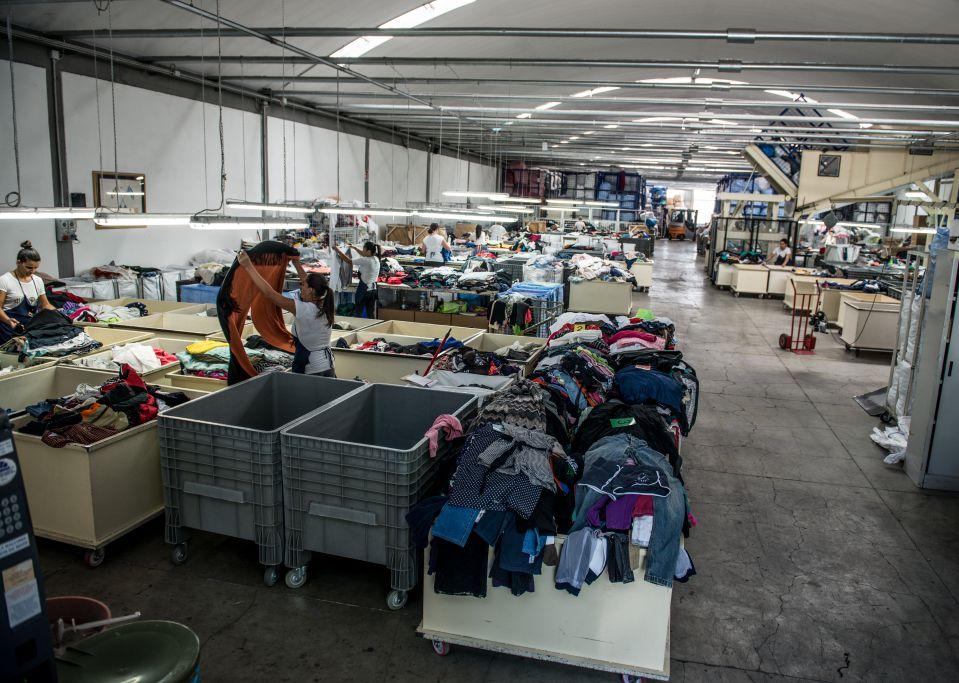 fase di selezione degli indumenti